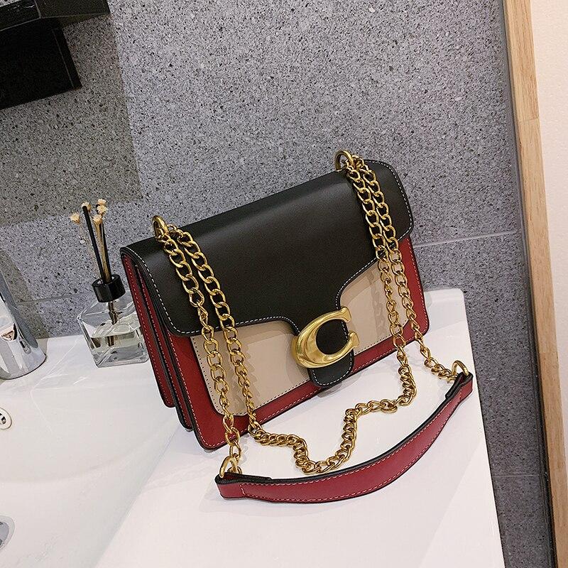 Metal Shoulder Strap Women's Crossbody Bag 2019 New Brand Shoulder Bag High Quality Layered Ladies Handbag Business Party Girl
