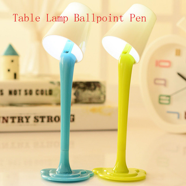Korean Novelty Cute Kawaii Ballpoint Pen Lamp Light Rollerball Ball Fun School Office Kawai Stationary Stationery Desk Accessory 4