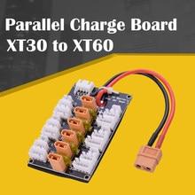 Placa de carga paralela de batería Lipo 1S-3S XT30, con 6 uds. XT30 a XT60 RC