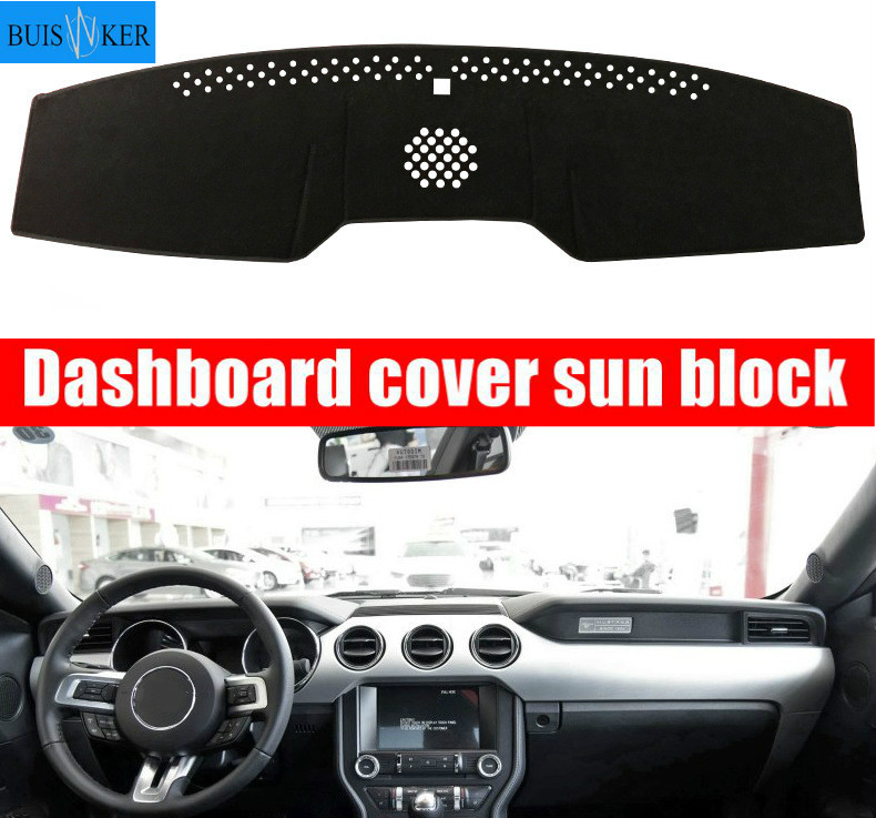 Unknow Car Dashboard Cover Mat Dashmat Pad Anti-UV Sun Shade Instrument Panel Carpet,for Volkswagen VW Touran 2004-2016 Car Accessories