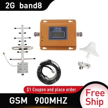 GSM 900 2g Repeater UMTS 900Mhz 2G repeater celular Mobile Phone Signal Repeater booster 900MHz GSM amplifier 5dbi omni antenna