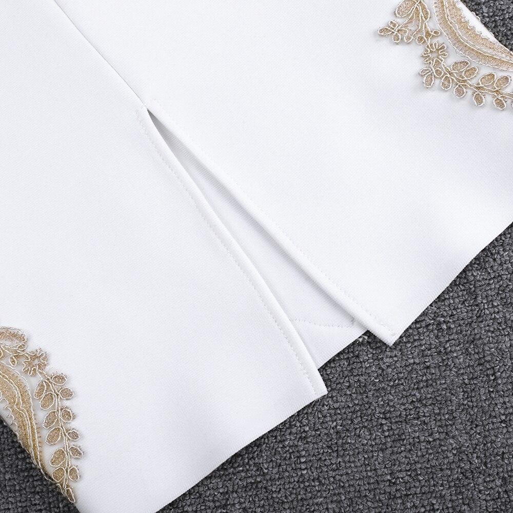 IOW Natural セクシーなナイトクラブドレス包帯 春夏新到着刺繍女性白包帯ドレスボディコンパーティードレス 12