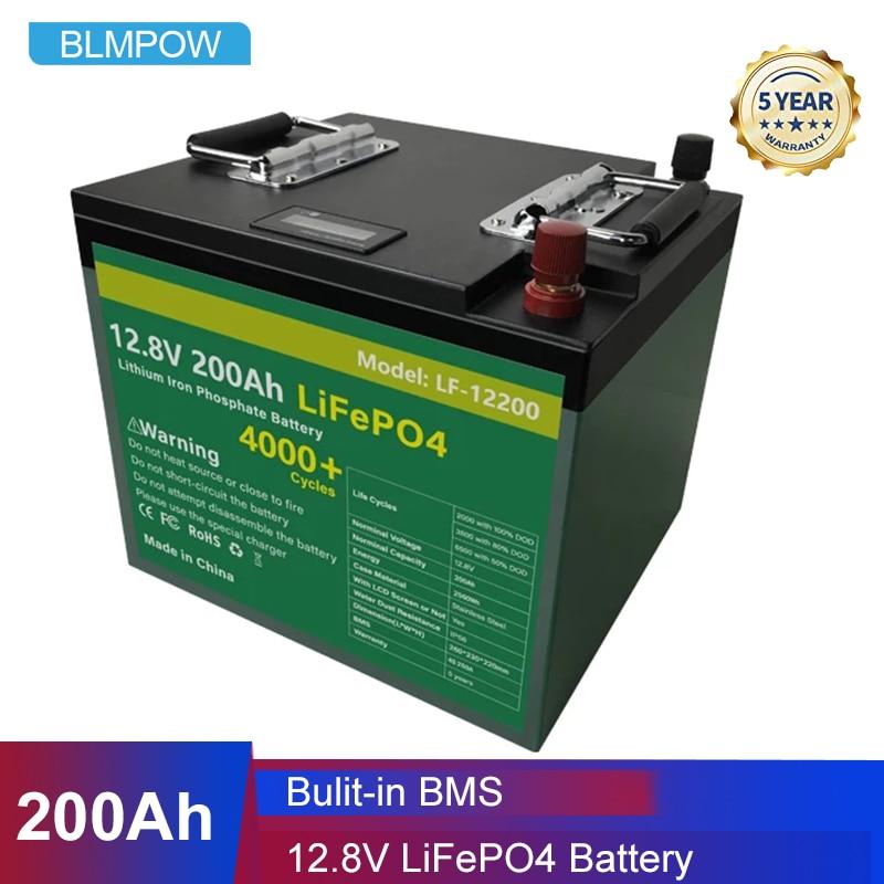 12V 200Ah LiFePO4 Batterij Pack Met Bulit Bms 2400Wh Lithium-ijzerfosfaat Lifepo4 Batterij Voor Rv Golf auto Kampeerders Geen Belasting 1