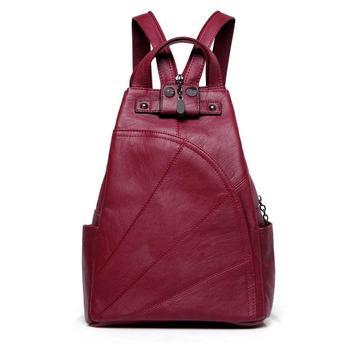 Wysokiej jakości skórzany plecak college girl małe plecaki plecaki stacy bag modne torby damskie dla nastolatków mochila tanie i dobre opinie Tłoczenie WOMEN Rama zewnętrzna 20-35 litr Wnętrze slot kieszeń Kieszeń na telefon komórkowy Chowany Na krzyż Hollow out