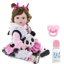Bebe chica muñeca 52cm panda ropa l o l vinilo silicona reborn muñecas bebé juguetes para regalo de niños