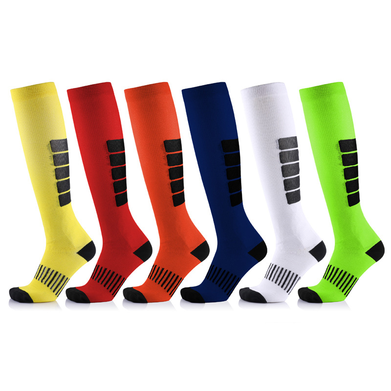 1Pair New Fashion Antifatigue Unisex Compression Socks Medical Varicose Veins Leg Relief Pain Knee High Stocks Cotton Socks
