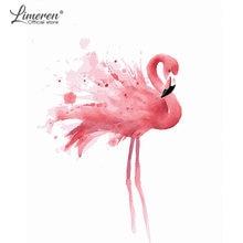 Diy Рамка Картина маслом по номерам Фламинго животные цветок