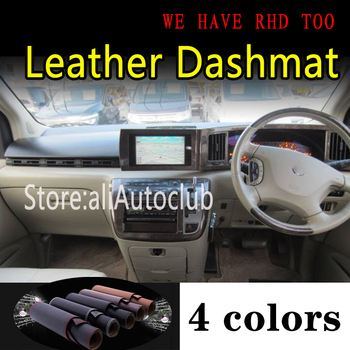 For nissan ELGRAND E51 2002 2003 2009 2010 Leather Dashmat Dashboard Cover Dash Mat Sunshade Carpet Car Styling auto accessories