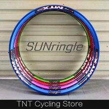 Дисковый обод для горного велосипеда Sunringle MTX33 32H с 36 отверстиями, 26 дюймов, 27,5 дюйма, обод для всех гор/грязи, скачка по гору/спуск вниз/эндуро/свободная езда