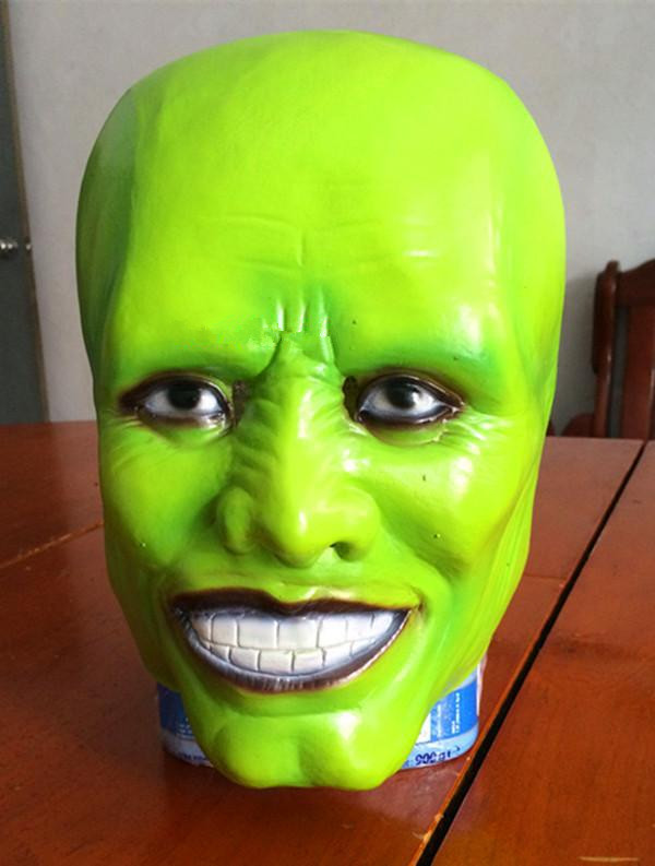 Halloween Full Face Masquerade Party Cosplay Green Mask The Jim Carrey Movies Mask Cosplay Costume Adult Fancy Dress image