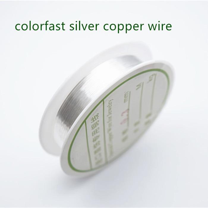 Четырехслойный разноцветный комбинезон серебро Медный провод для браслет Цепочки и ожерелья самодельные Украшения, Аксессуары 0,2/0,25/0,3/0,5/0,6/1,0 мм ремесло Бисер провода HK018 - Цвет: Colorfast silverwire