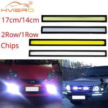 Clignotant de coffre, lumière de jour, ampoule externe étanche pour voiture LED, blanc bleu rouge COB DRL Led, 14cm 17cm