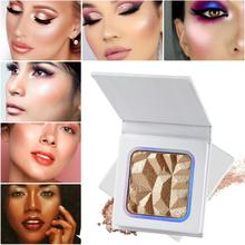 Wholesale High-gloss Highlighter Palette Private Label Makeup Face Contour 3D Highlight Powder Natural Brighten Cosmetic No Logo