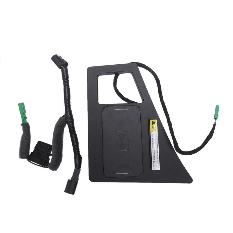 Auto Handy Qi Wireless Charging Pad Modul Console Storage Box Für Audi Q7 2016 2019 Auto Zubehör