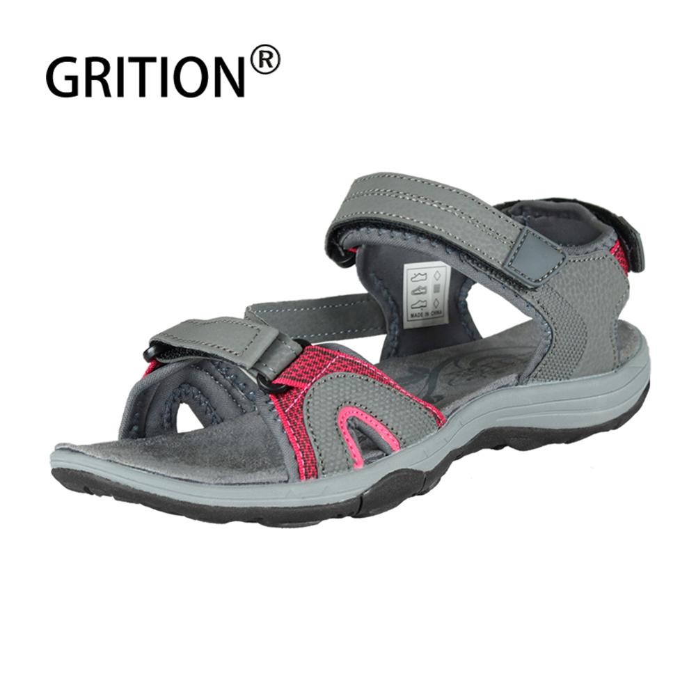 GRITON Women Sandals Sport Casual Lightweight Designers Trekking Sandals Breathable 2020 New Sexy Flat Beach Shoes Plus Size 41