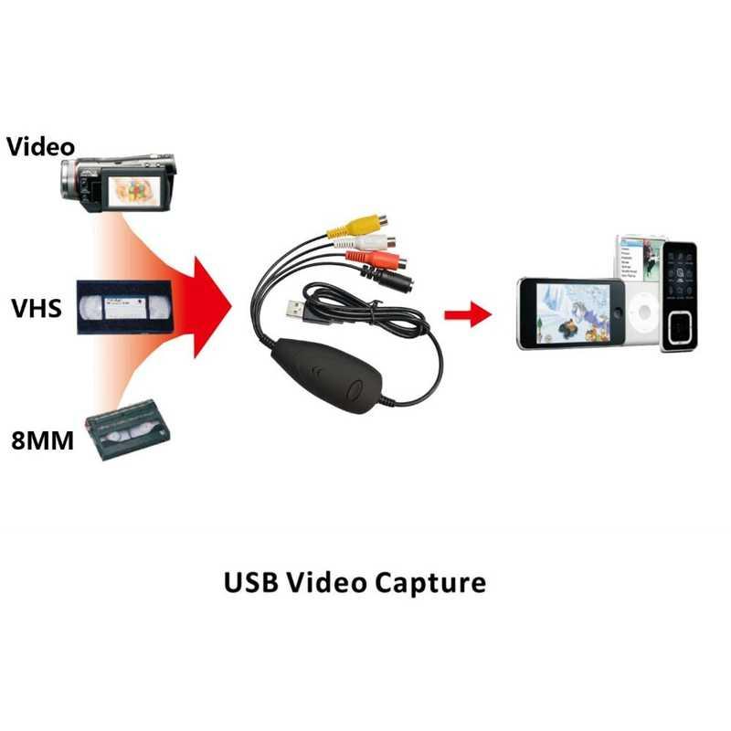 Asli Asli Ezcap172 USB Audio Video Grabber Capture, Mengkonversi Video Analog dari VHS, Perekam Video, Camcorder, DVD Bisa Win10
