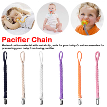 Pacifier Clips Chain Dummy Clip Pacifier Holder Braided Clip Nipple Holder Soother Chain For Infant Baby Feeding wood pacifier clip metal dummy clip nature football pattern pacifier chain soother holder baby feeding clips attache sucette