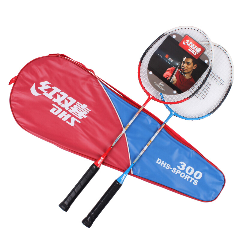 Купить с кэшбэком DHS badminton racket against iron alloy feather racket 300