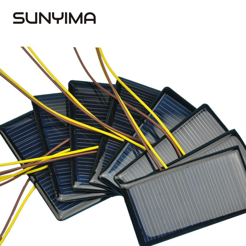 SUNYIMA 10pcs 5V 60MA 68*37MM Solar Panels Power Solars For DIY Charging charger