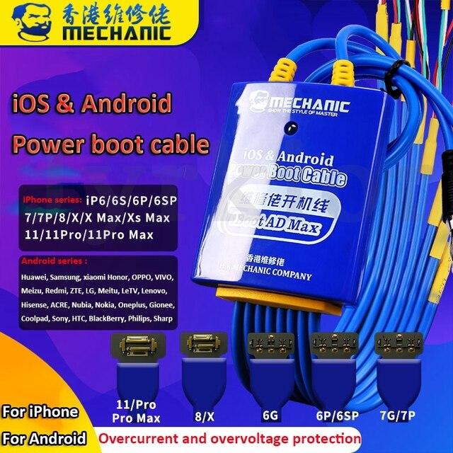 Mechanik telefon komórkowy kabel zasilający dla iPhone Samsung Huawei Android kabel testowy zasilania DC płyta główna aktywacja linii rozruchowej