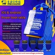 Механический кабель питания для мобильного телефона для iPhone, Samsung, Huawei, Android, испытательный кабель источника питания постоянного тока, линия активации материнской платы