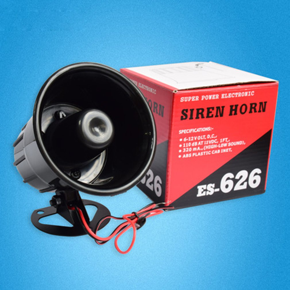 12V 626 Alarm Siren Horn Outdoor With Bracket For Home Security Protection System GSM Alarm Systems Loudly Sound Siren