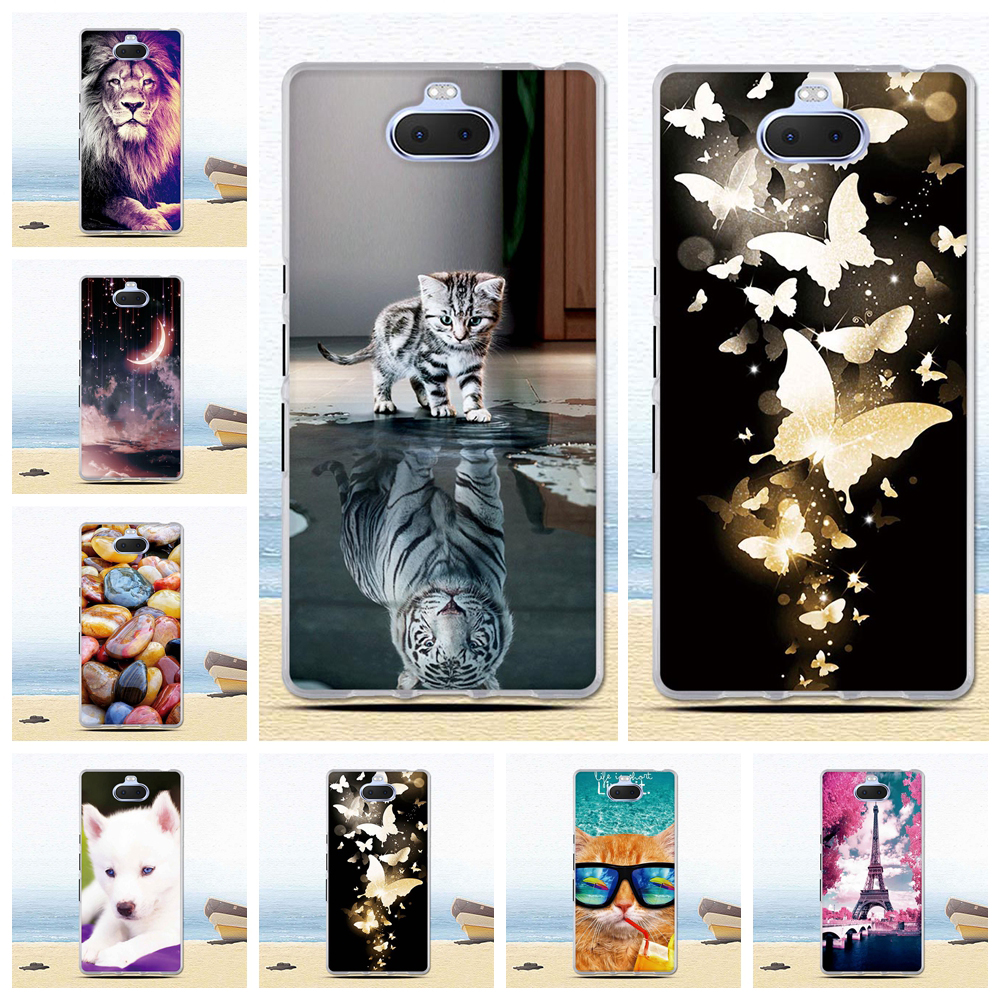 Newest Silicone <font><b>Case</b></font> Cover For <font><b>Sony</b></font> Xperia 10 Ultra <font><b>Cases</b></font> Cartoon Pattern Thin Soft TPU Back Coque For <font><b>Sony</b></font> <font><b>Xperia10</b></font> <font><b>Case</b></font> Cover image