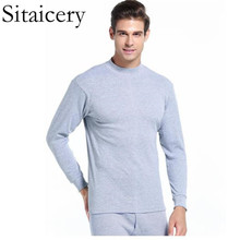 Sitaicery Cotton Winter Long  Johns New Thick Men Thermal Underwear Sets Keep Warm For Russian Canada And European Plus Size