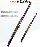 Hot Metal Purple Flute Playing Flute C Key FL 510R Flauta Detachable OVES Gold Plated Chinese Folk Instrument Brand Flute