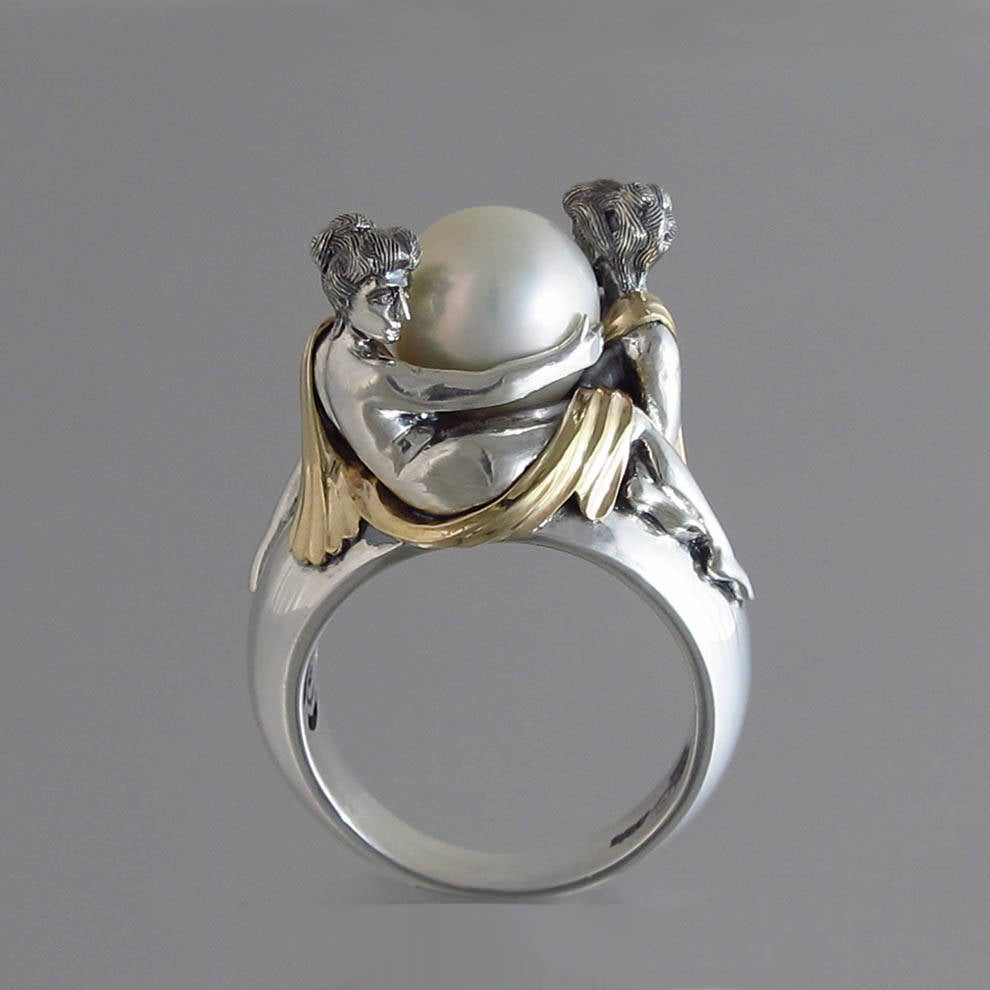 100% Real 925 Sterling Silver White Pearl Ring for Women Anillos Silver 925 Jewelry Gemstone Bague Diamant Pearl Bizuteria Rings