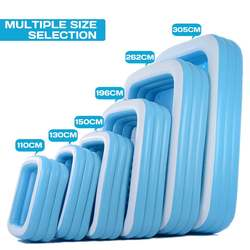 1.1m/1.3m/ 1.5m/1.96m/2.62m/3.05m Inflatable Swimming Pool Adults Kids Pool Bathing Tub Outdoor Indoor Swimming Pool