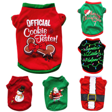 Christmas Dog Clothes Cotton Pet Clothing For Small Medium Dogs Vest Shirt New Year Puppy Dog Costume Chihuahua Pet Vest Shirt