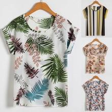 Damskie koszulki z nadrukiem kwiatowe koszulki z krótkim rękawem dzikie koszulki z nadrukiem szyfonowa koszulka koszulki z krótkim rękawem koszulki letnie topy odzież tanie tanio CN (pochodzenie) Zima Poliester REGULAR Drukuj NONE Na co dzień Osób w wieku 18-35 lat O-neck