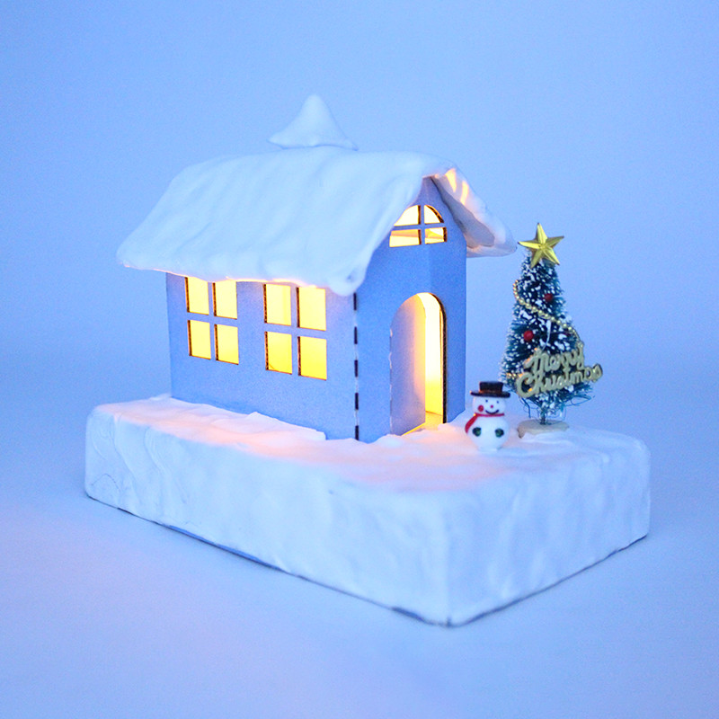 Noveltylights In Night Lights Shining Small House Warm Colors Corrugated Paper  Holiday Gifts For Children  House Of Novelty
