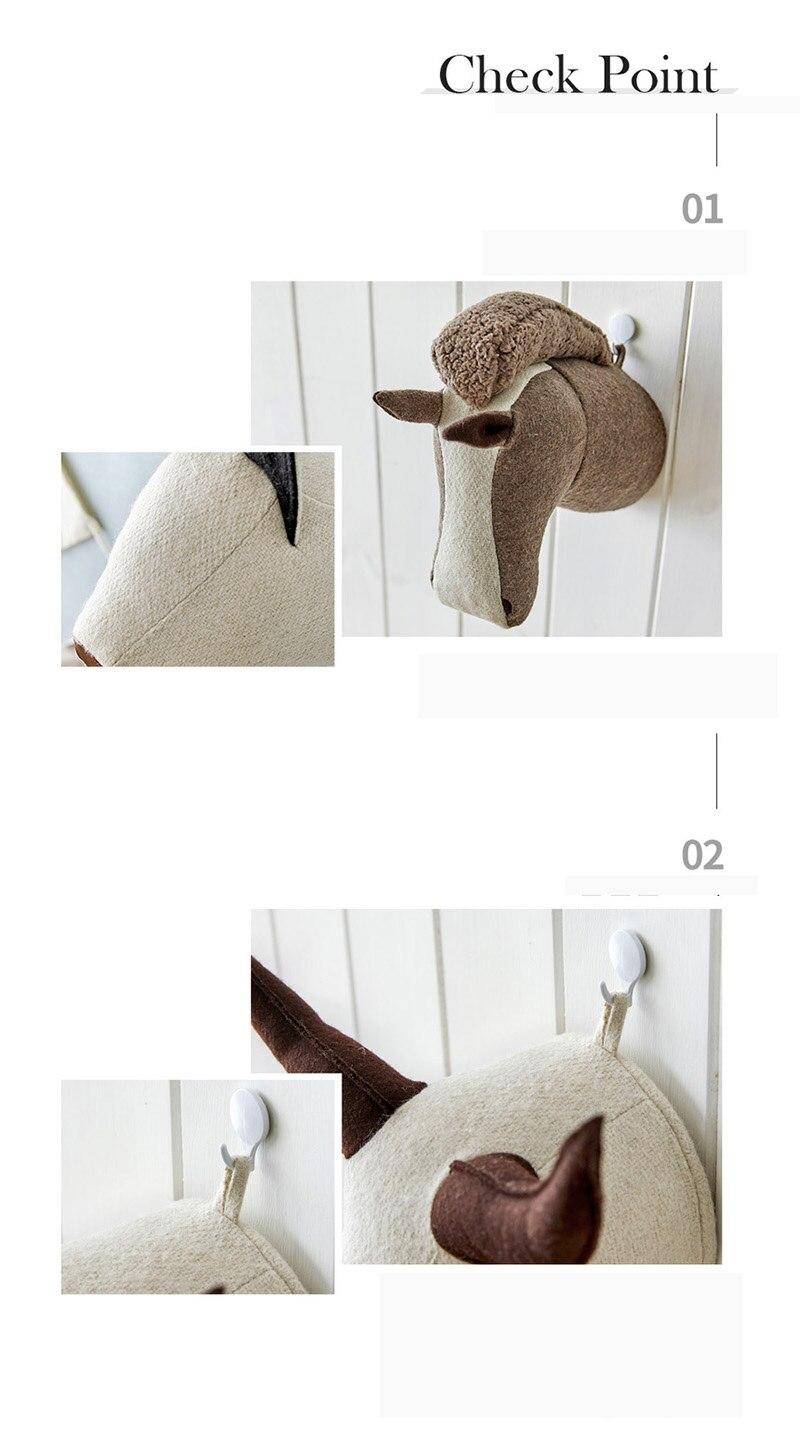 3d animal head wall