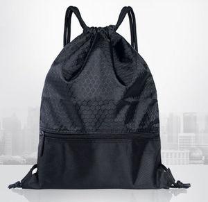 Большая прочная водонепроницаемая сумка для фитнеса на шнурке, прочный нейлоновый пляжный рюкзак на плечо для спортзала, летний спортивный...