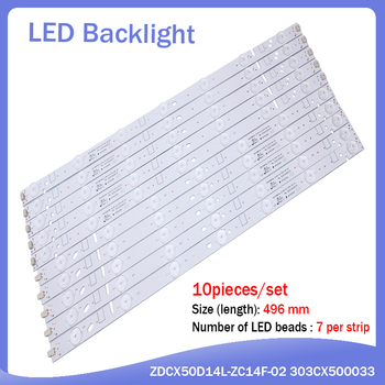 new 30 pieces/set 496mm LED backlight strip For ZDCX50D14R-ZC14F-02 01 ZDCX50D14L-ZC14F-02 303CX500033 LT-50E350 LT-50E560