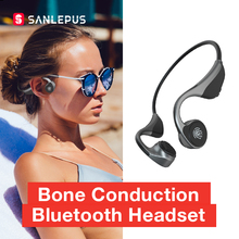 SANLEPUS Bone Conduction Earphones Open Ear Wireless Headphones Bluetooth 5.0 Qualcomm Chip with Mic for Running Sports Fitness