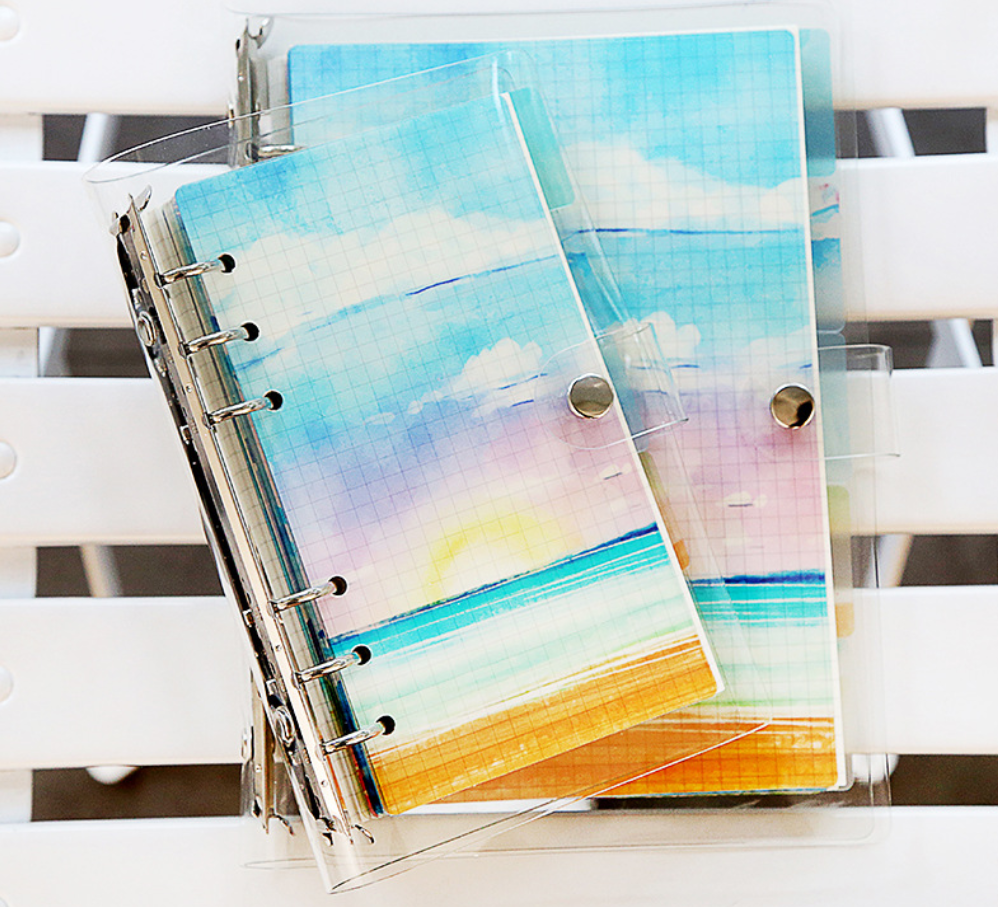 6 Sheets Sea Ocean Beach PP Separator Separation Divider A5 A6 Loose Leaf Index Paper Category Page For Notebook Bullet Journal