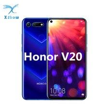 "Onur V20 görünüm 20 Smartphone 6.4 ""Fullview 4000mAh süper şarj Kirin 980 Android 9 45MP OTG NFC cep telefonları"