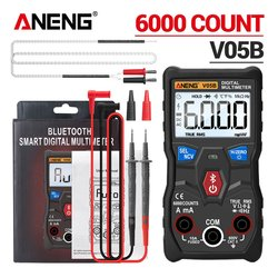 ANENG V05B Digital 6000 Counts Professional Analog Multimeter AC/DC Currents Voltage Mini Testers True RMS  Bluetooth Multimetro