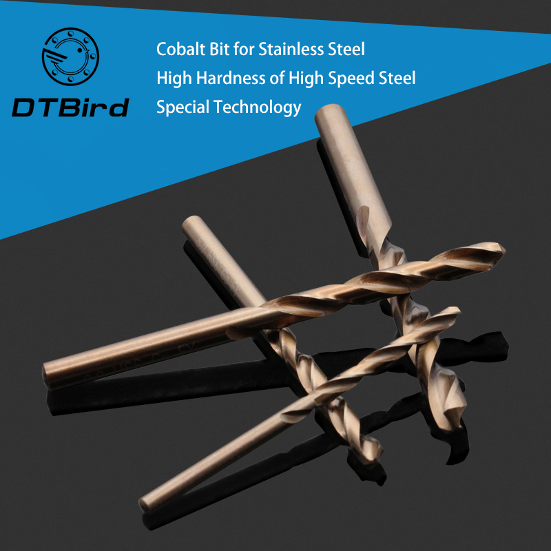 1-10mm Turning Bit For Industrial Grade Iron Drilling Stainless Steel 304 Cobalt-containing Twist Bit Drilling