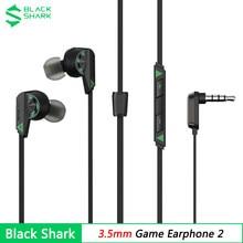 2021 nowy oryginalny czarny Shark słuchawki 3.5mm dla Black Shark 4 In-ear przewodowy zestaw słuchawkowy do gier z mikrofonem dla iPhone 7 6