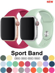Strap for Apple watch band 42mm 38mm 44mm 40mm correa iwatch 5 4 3 2 sport silicone bracelet