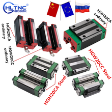 4pcs HGH20CA /HGW20CC HGR20 linear guide rail block match use hiwin HR20  width 20mm guide for CNC router