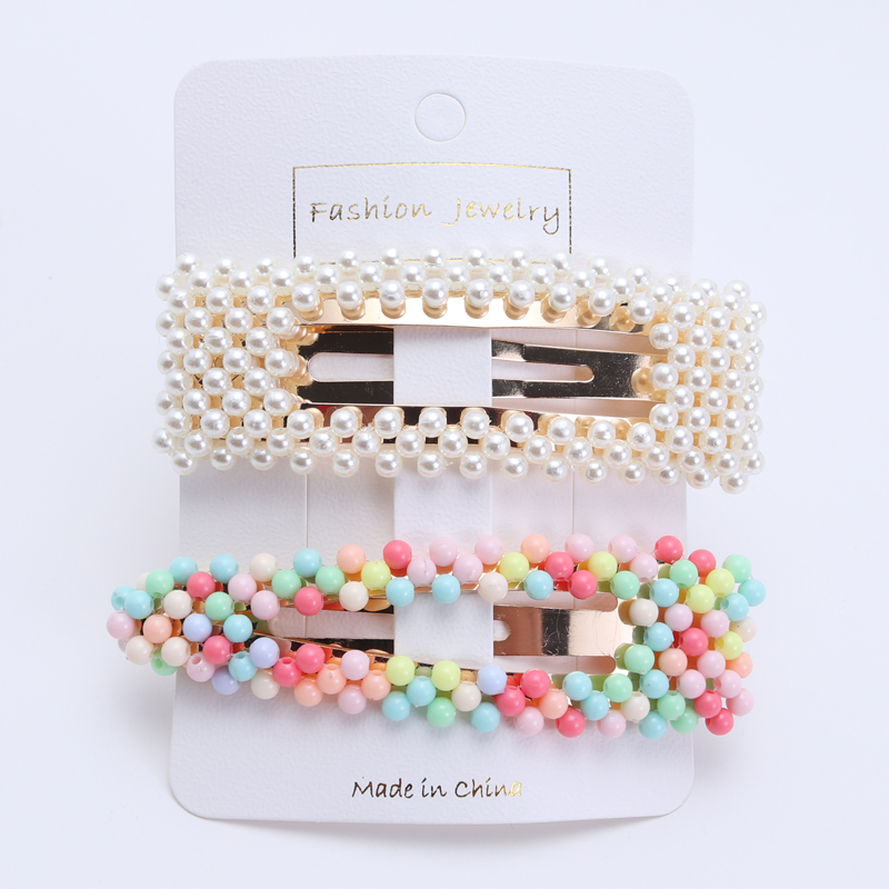 2 Piece New Color Women Hair Clips Girls Hair Barrettes Fashion Mix Color Hairpins Hair Accessories Gift