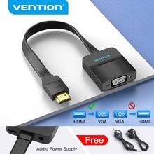 Vention-Adaptador de HDMI a VGA 1080P HDMI macho a VGA hembra con Cable de Audio Jack 3,5 para Xbox PS4 PC portátil proyector