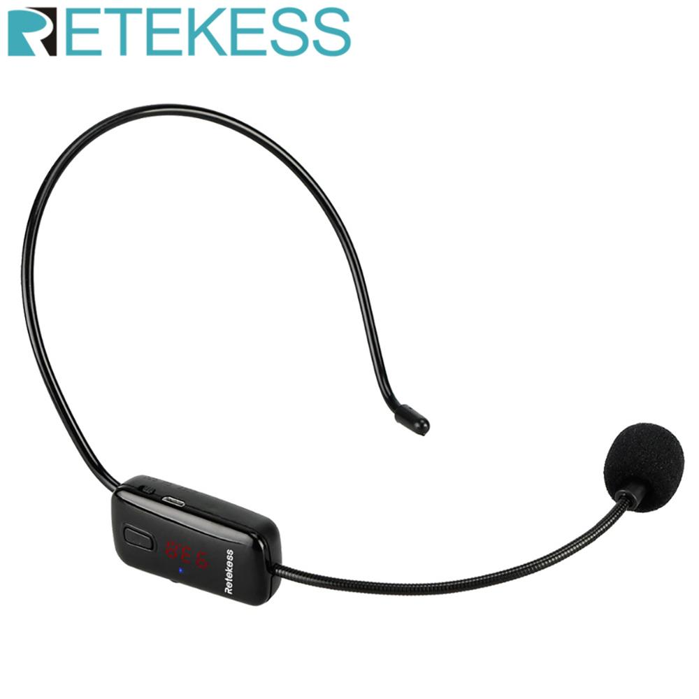 Retekess TR503 Wireless Microphone Headset Voice Amplifier FM Transmitter 87-108MHz For Teaching Tour Guide System karaoke