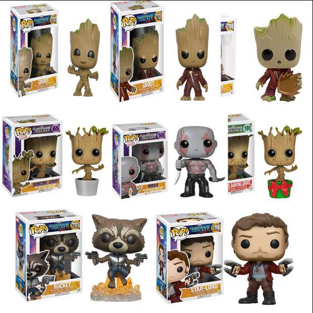 Funko POP 2020 оригинальные стражи галактики 2, фигурка, виниловая Коллекционная модель, игрушки, рождественские подарки