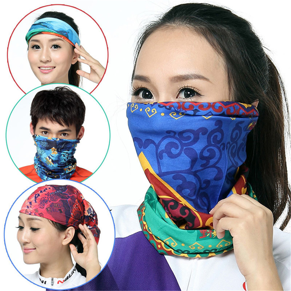 Sports Bandana Scarf Headwear Outdoor Riding Multi-function Head Wrap Scarves Cycling Headscarf Face Mask Riding Headscarves